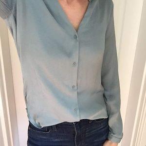 H&M V-Neck Button Down Blouse